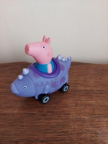 Świnka Peppa - Auto  - George in Red Dinosaur - wydanie angielskie