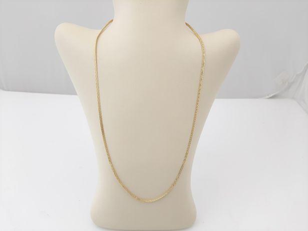 Piękny Złoty łańcuch 585/14K, Splot TAŚMA , NOWY 50cm