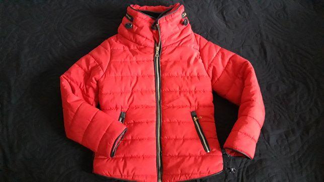 Czerwona przejściowa kurtka 122 dziewczęca
