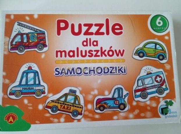 Puzzle dla maluszków Samochodziki + GRATIS