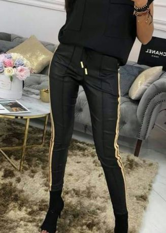 Nowe Spodnie z lampasem,butik