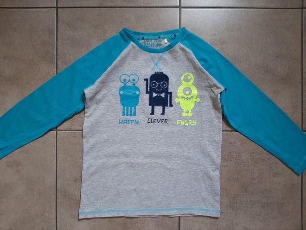 COOL CLUB bluzka dla chłopca długi rękaw 128cm potworki