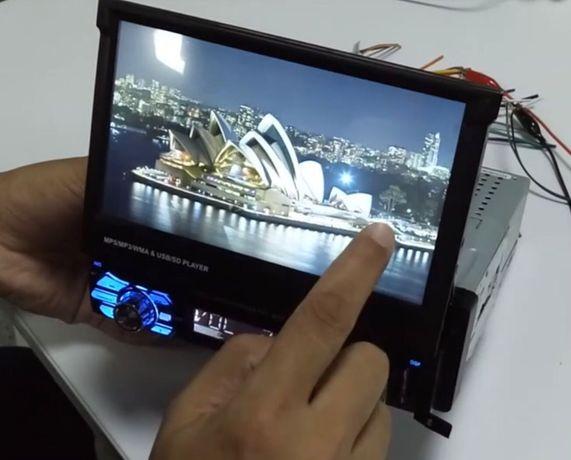 Auto-Rádio Mp5 1 Din retratil/Touch/Mirrorlink(Gps,Youtube)/60x4w NOVO
