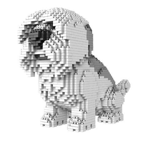 Pies model mini klocki Ozzy Fast and Furry 2100+ klocków