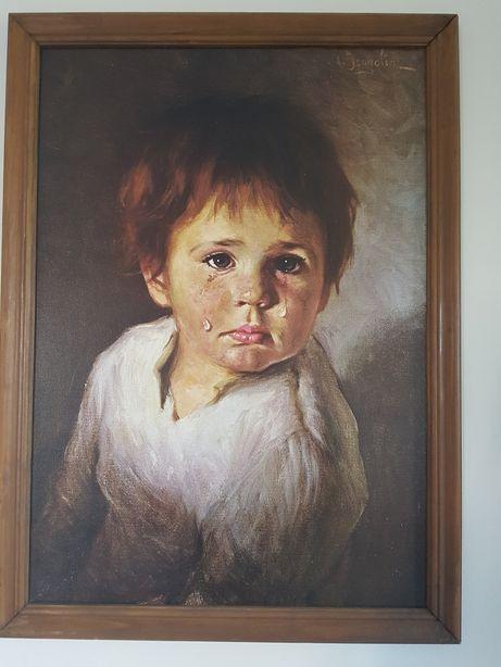 Quadro antigo, o clássico menino da lágrima