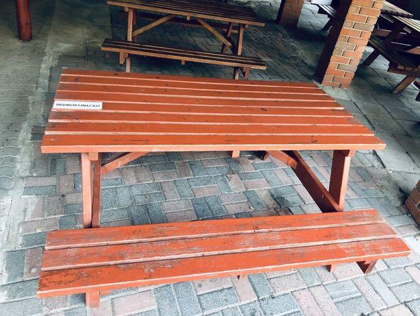 Stół barowy z ławkami