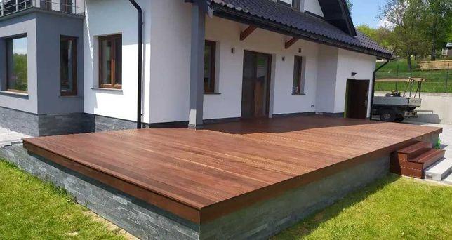 Budowa tarasów drewnianych , egzotycznych , kompozytowych Solidnie