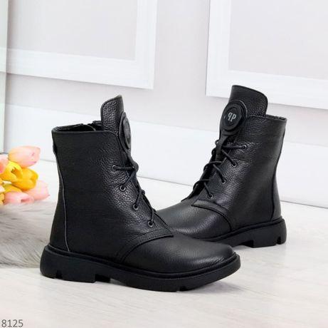 ТОП! Женские зимние ботинки из натуральной кожи, 36-41 размеры