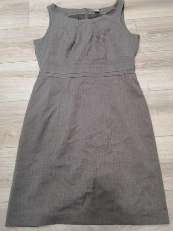 Sukienka ołówkowa szara elegancka H&M EUR 46
