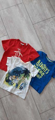 Koszulka, t-shirt 3szt dla chłopca w rozmiarze 98