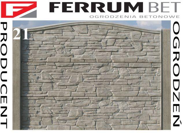 ogrodzenia betonowe ogrodzenie płoty przęsła płyty producent ferrumbet
