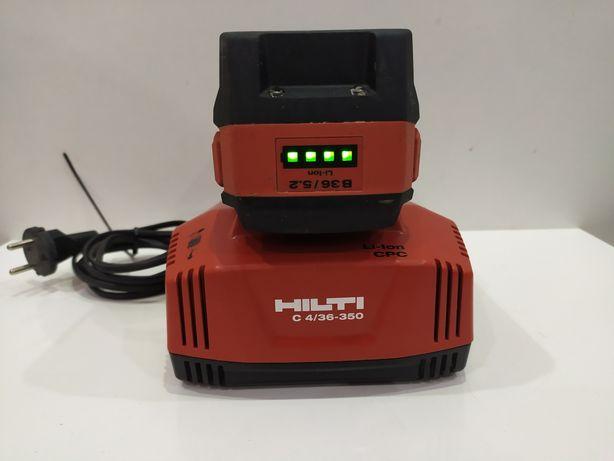 HILTI zestaw zasilający aku bateria B36 5.2ah i szybka ladC4 2021r