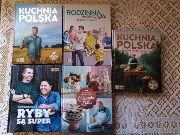 Nowe Książki KUCHNIA LIDLA 5 części.
