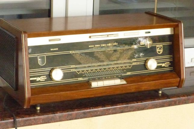 Radio philips  antyk prl lampowe