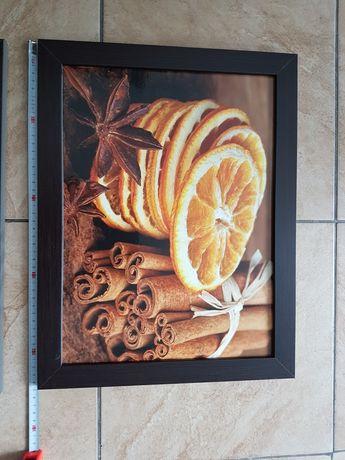 Obraz plastry pomarańczy 45x35cm