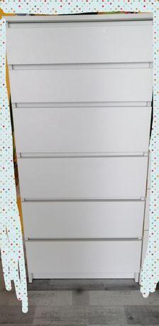 Komoda wysoka z szufladami biała