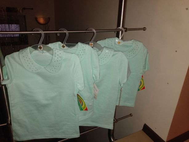 Bluzeczki dziewczęce-miętowe