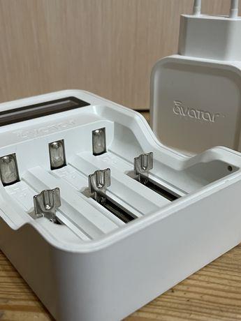 Зарядное устройство для аккумуляторов 18650 ЗУ Avatar белое