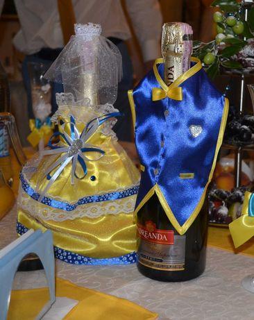 Бокалы и чехлы на шампанское