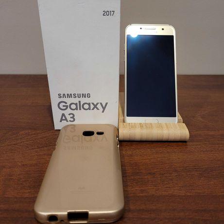 JAK NOWY - Telefon Samsung Galaxy A3 2017 + Etui Mercury Goospery