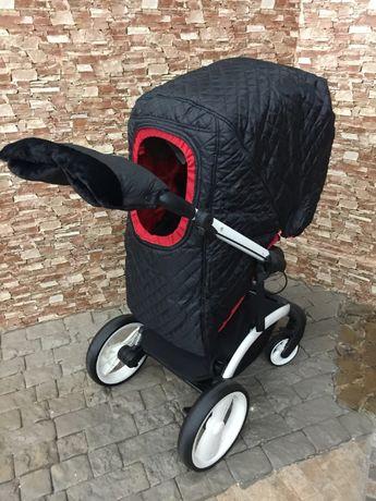 Зимний комплект для коляски - чехол и муфта, суперкачество!