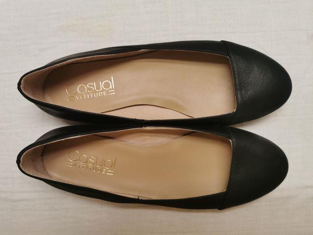 Sapatos senhora, rasos, em pele, T38