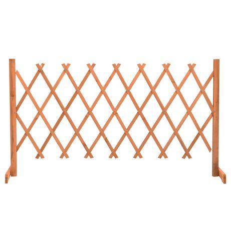 vidaXL Vedação em treliça para jardim 150x80 cm abeto maciço laranja 314826