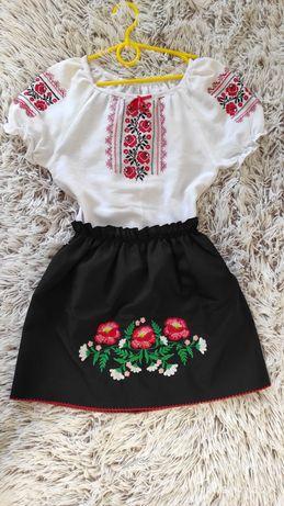 Вышиванка, юбка, украинский костюм девочке