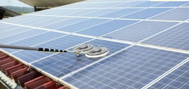 Mycie czyszczenie solarów paneli fotowoltaicznych