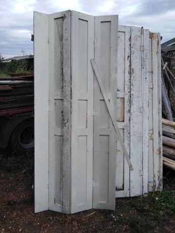 drzwi wewnętrzne zabytkowe składane na zakładkę
