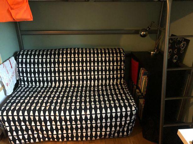 Sofá cama casal Ikea LYCKSELE com capa