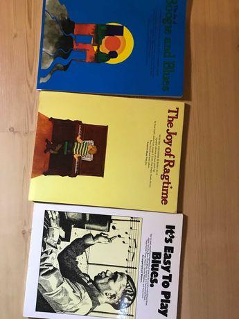 Nuty pianino fortepian 3 książki blues ragtime boogie standardy jazz