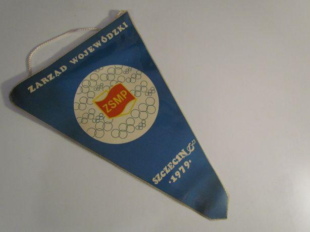 Proporczyk ZSMP Szczecin 1979 Olimpiada Wiedzy Społeczno Politycznej