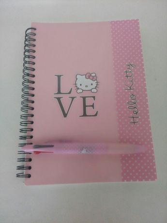 Cadernos escolares com caneta, Hello Kitty NOVOS