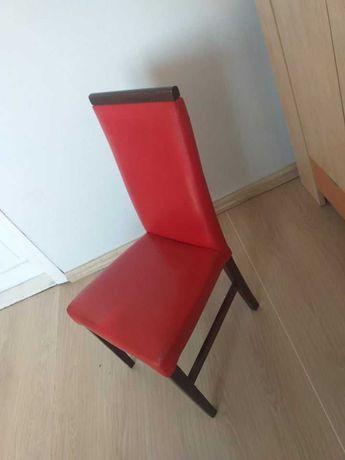 Krzesło skórzane czerwone
