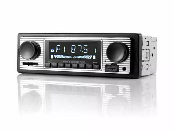 Auto Rádio Vintage - Bluetooth - carro - clássico - retro - Novo