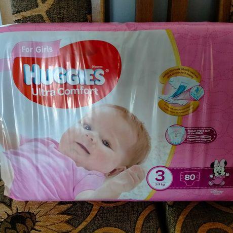 Памперси huggies ultra comfort 3 для дівчинки