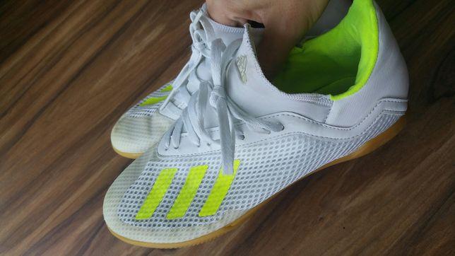 Halówki adidas białe r.37 1/3 piłka nożna wf sala
