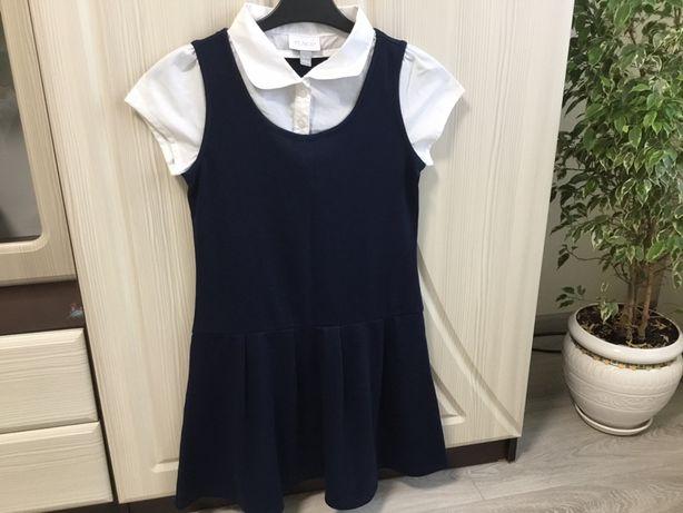 Школьное темно-синие платье 3-5 класс