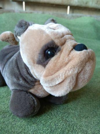 Мягкая игрушка собака французский бульдог топ игрушка как настоящая .