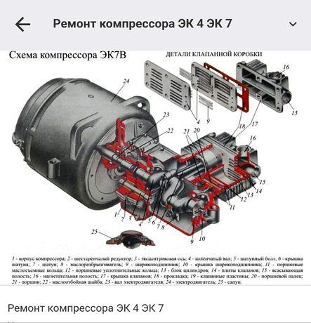 Ремонт Компрессоров ЭК-7,ВВ-0.8,ЭКВО-0.8/9