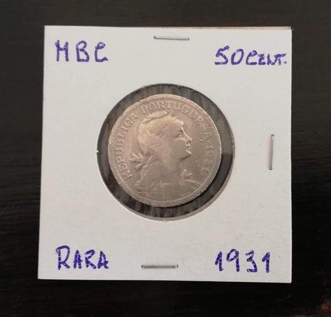 Moeda 50 centavos 1931
