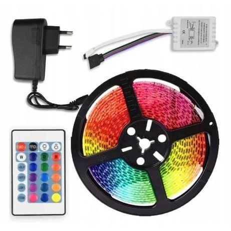 Светодиодная Led лента 5050 RGB с блоком и пультом управления 5 м