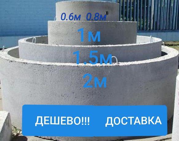 Кільця бетонні кольца септики каналізаційні кільця
