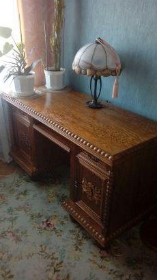 Sprzedam biurko dębowe idealne do biura, gabinetu