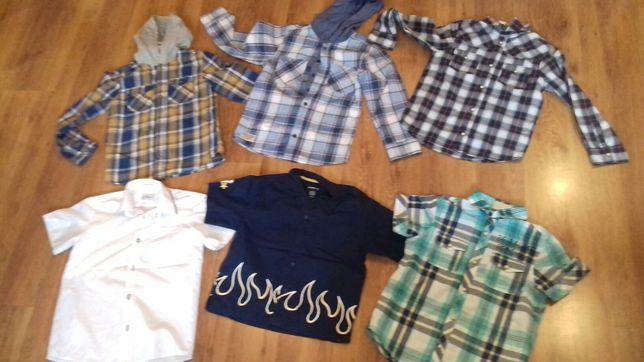 Koszulki, koszule chłopięce z długim i z krótkim rękawem 122,128,134