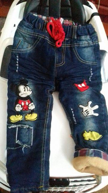 Продам зимние джинсики как новые, на рост 94 см!