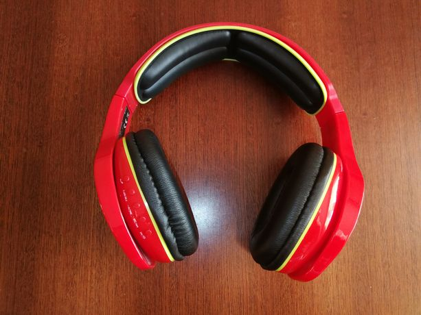Słuchawki nauszne bezprzewodowe Tracer Jumbo BT red Battle Heroes