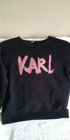 KARL LAGERFELD bluza czarna M/L