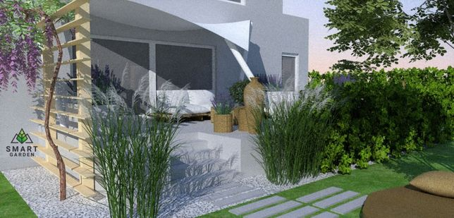 Projekty Ogrodów - Wizualizacje ZAKŁADANIE OGRODÓW - Smart Garden